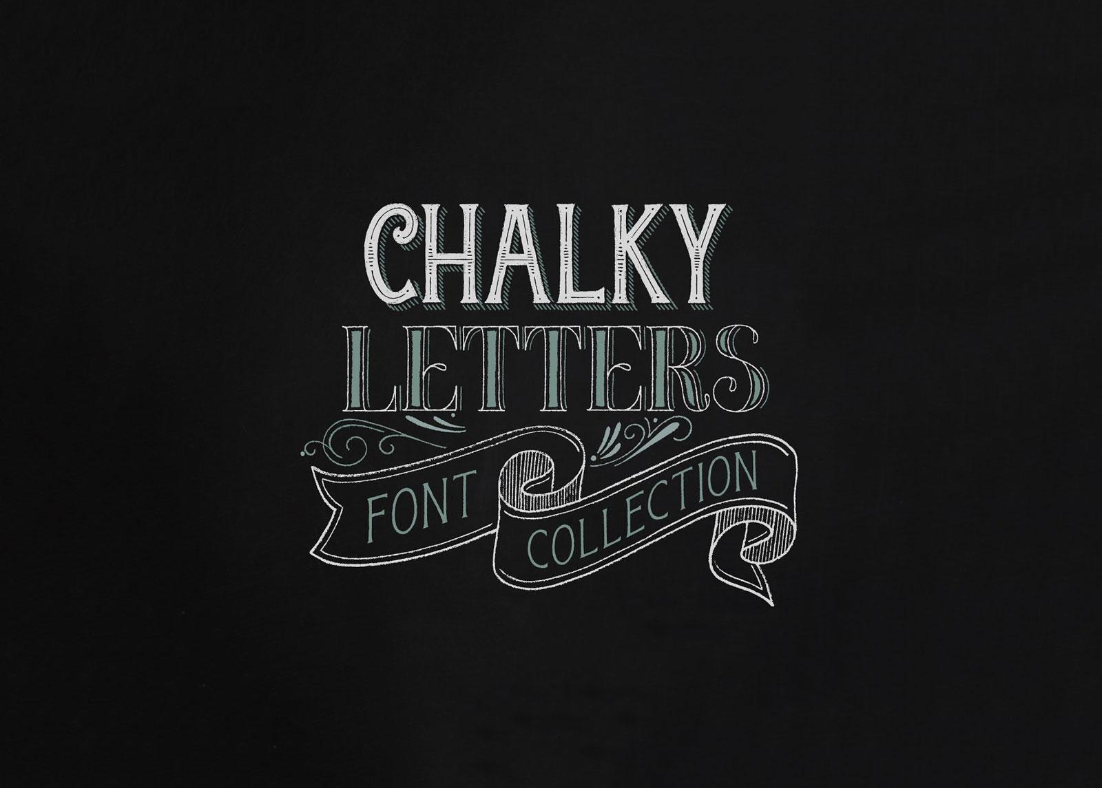 Free & premium chalkboard fonts