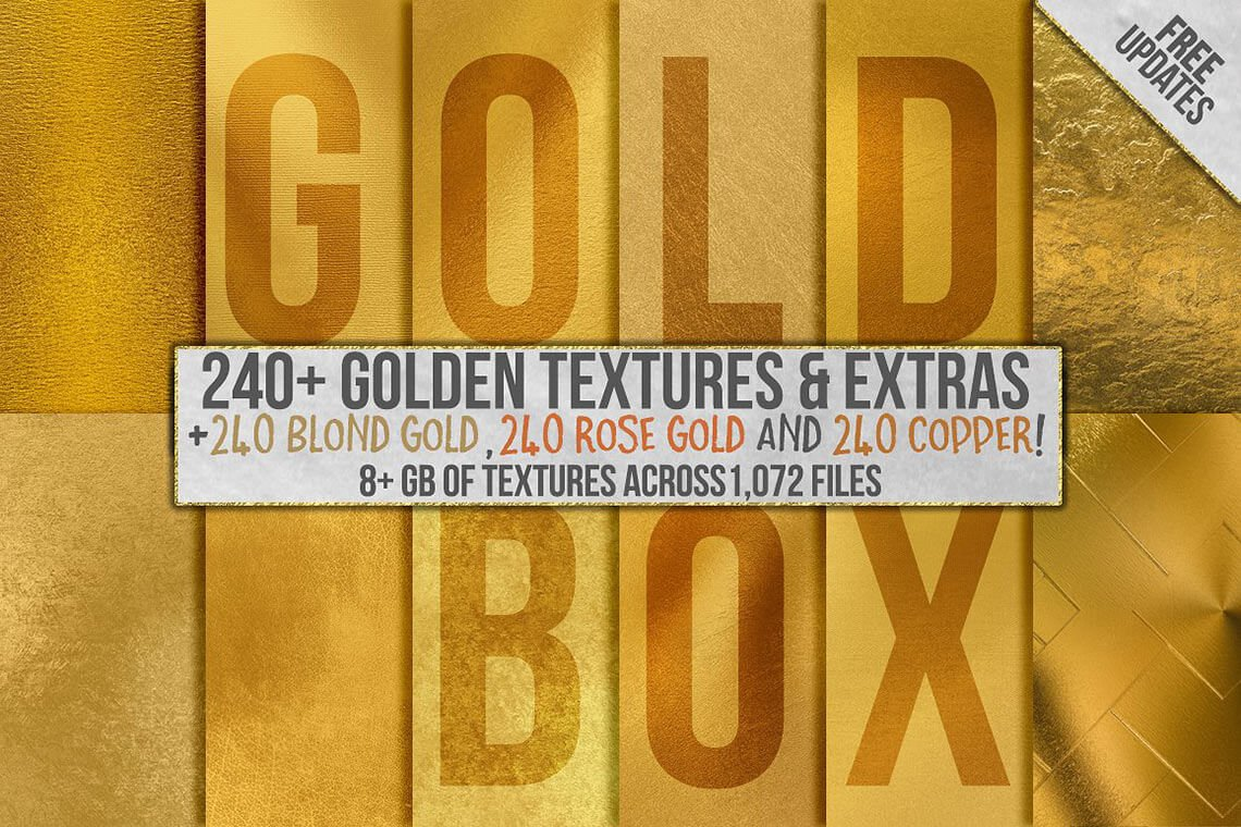 Gold Foil Textures and Gold Backgrounds