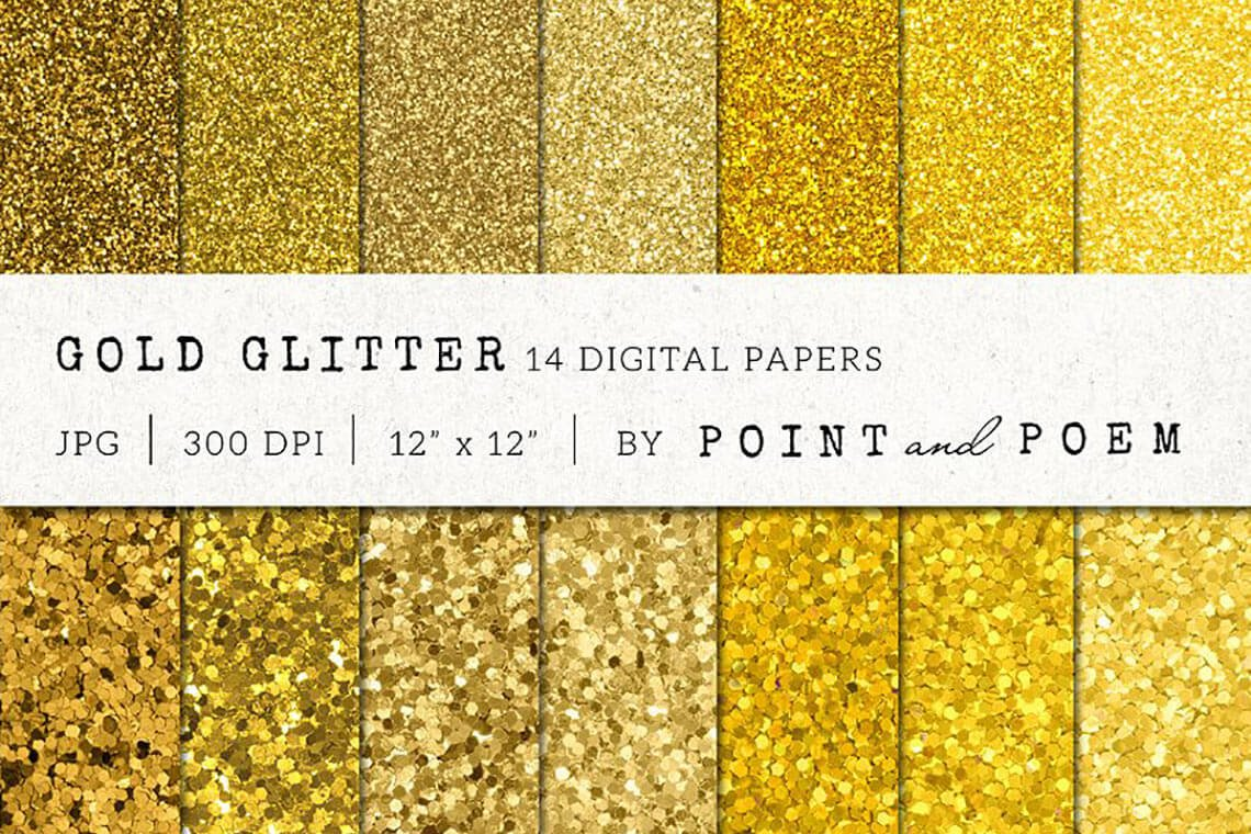 ⭐ 25 Gold Textures for Your Glitter & Glint Mood on The Designest