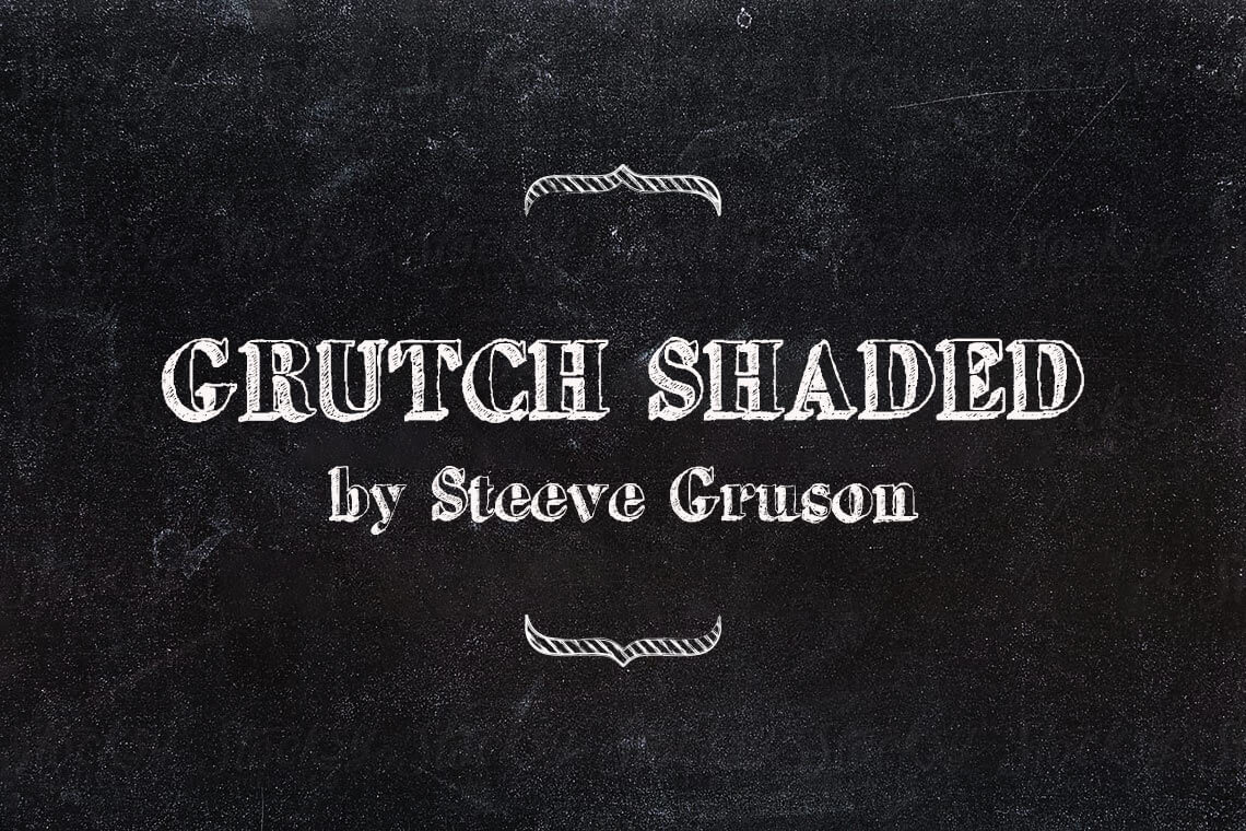 Grutch Shaded Chalk Font