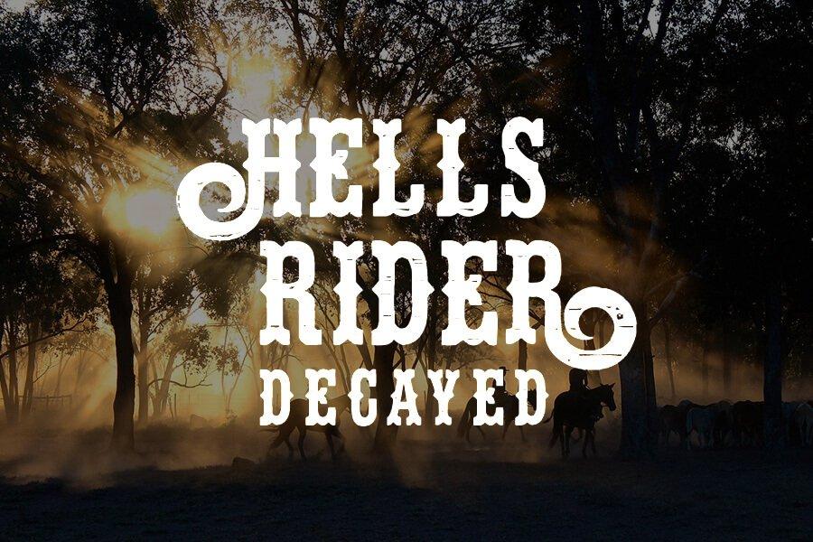 Hells Rider Decay Font