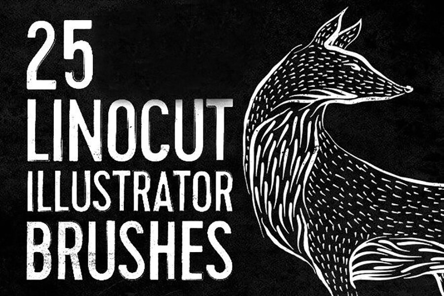Linocut & Woodcut Illustrator Brushes