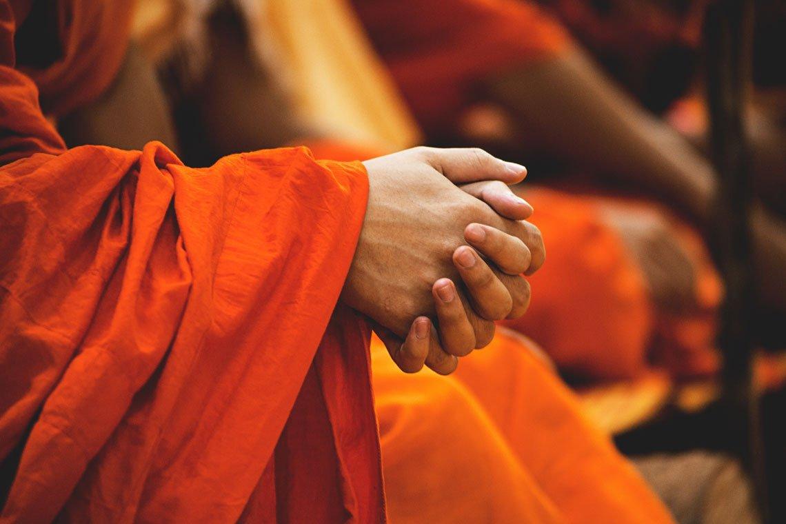 Monk's hands by Peter Hershey'