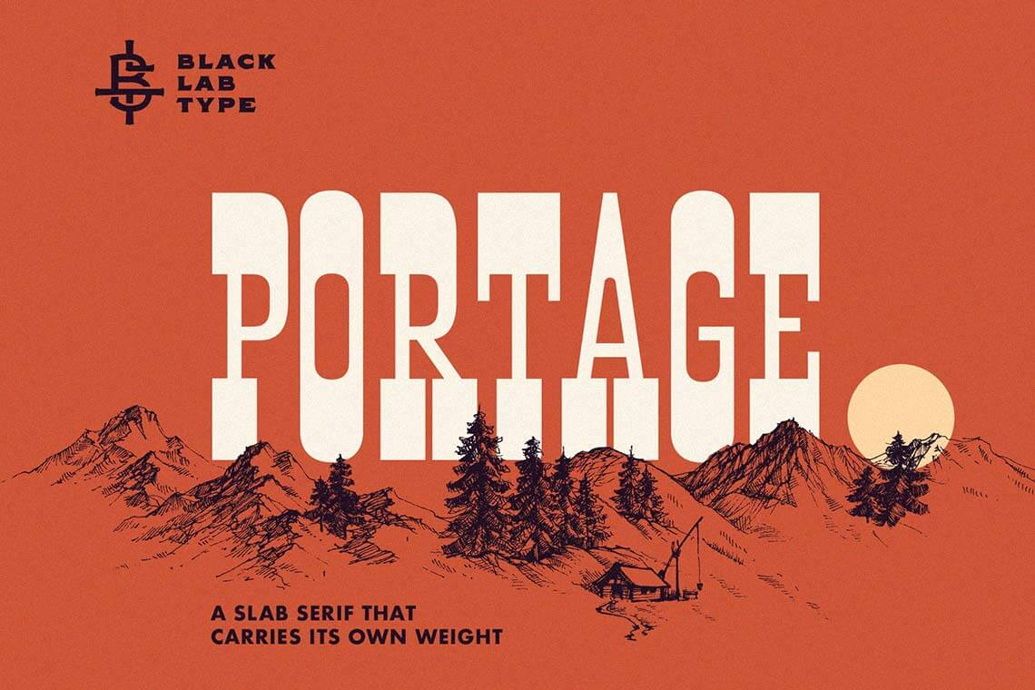 Portage: Adventurous Slab Font