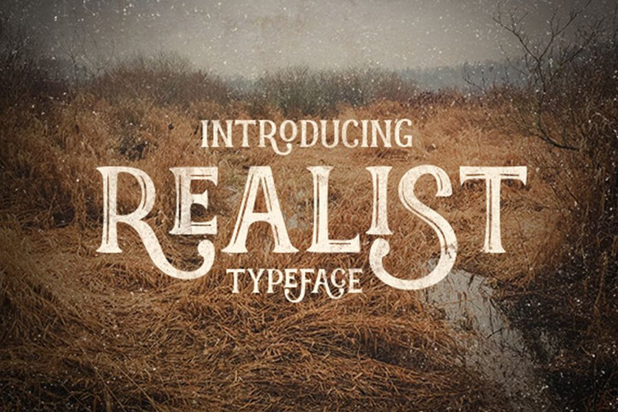 Realist Retro Typeface