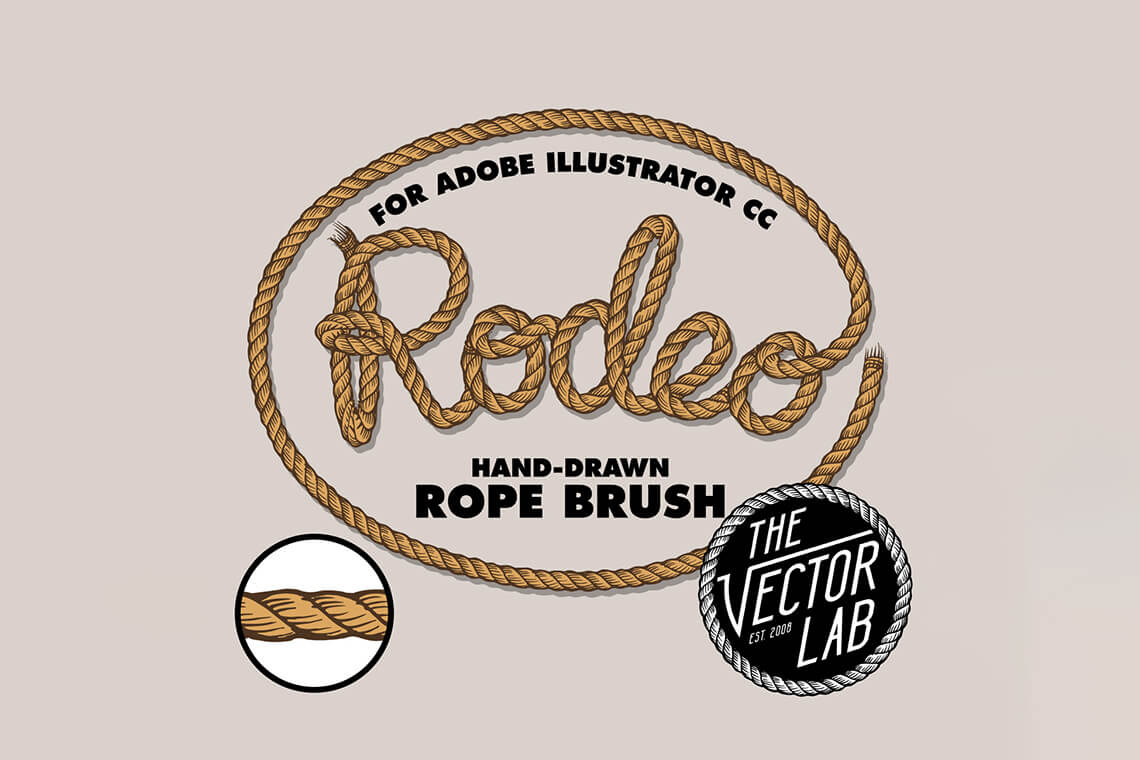 Rodeo Hand Drawn Rope Brush
