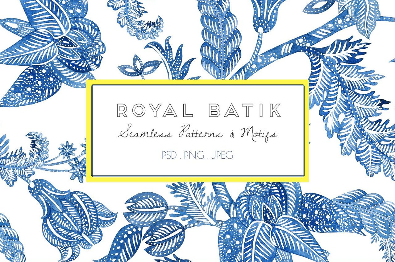 Royal Batik, Seamless Print & Motifs