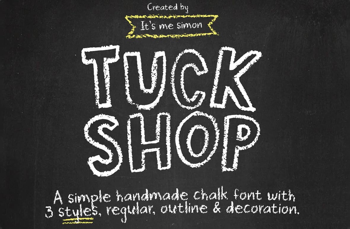 Tuck Shop Chalk Font