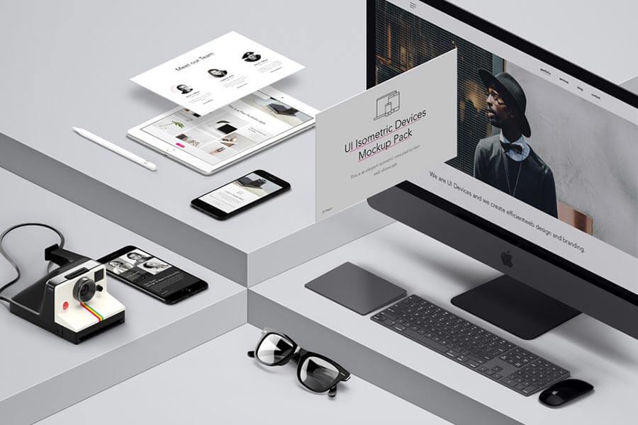 UI Isometric Device Mockup Pack