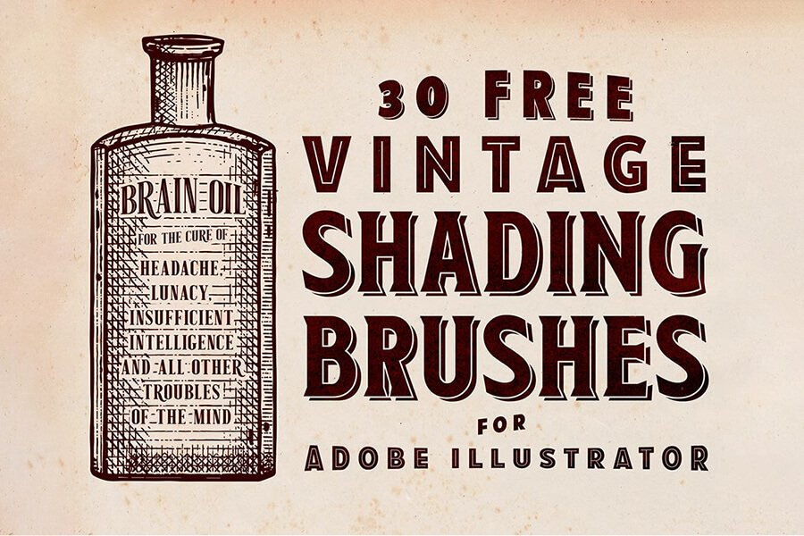 Vintage Shading Brushes for Illustrator