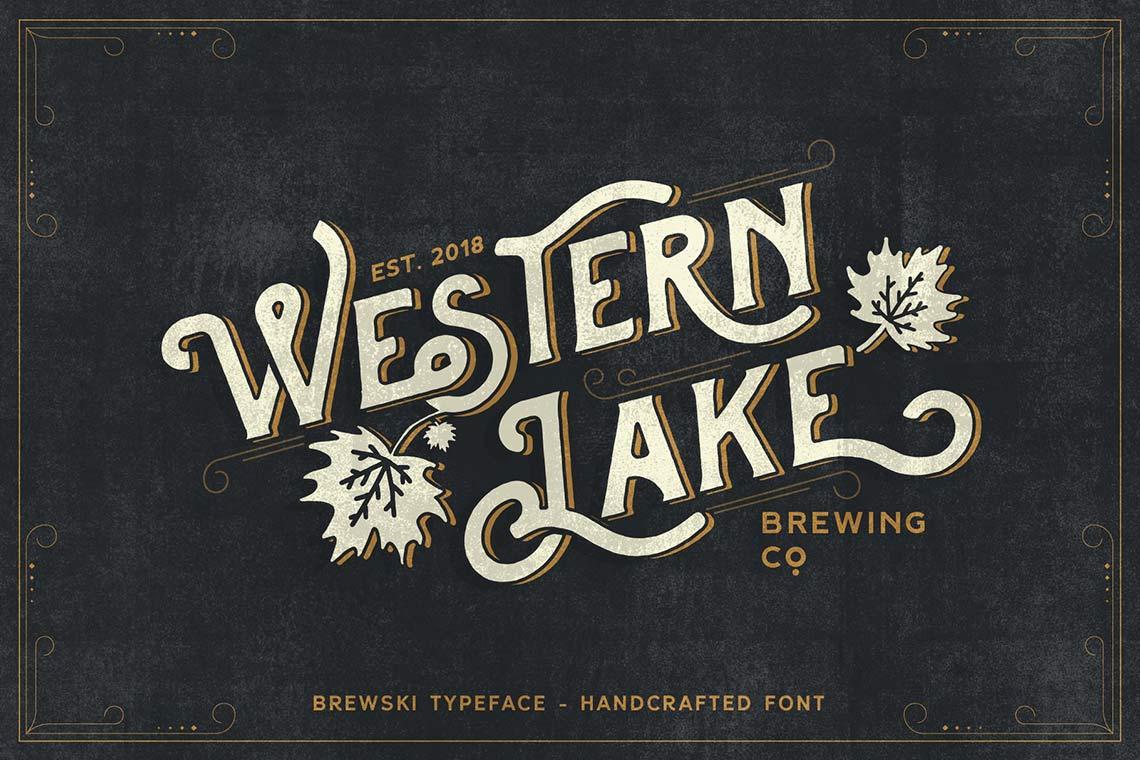Western Lake - Brewski Typeface