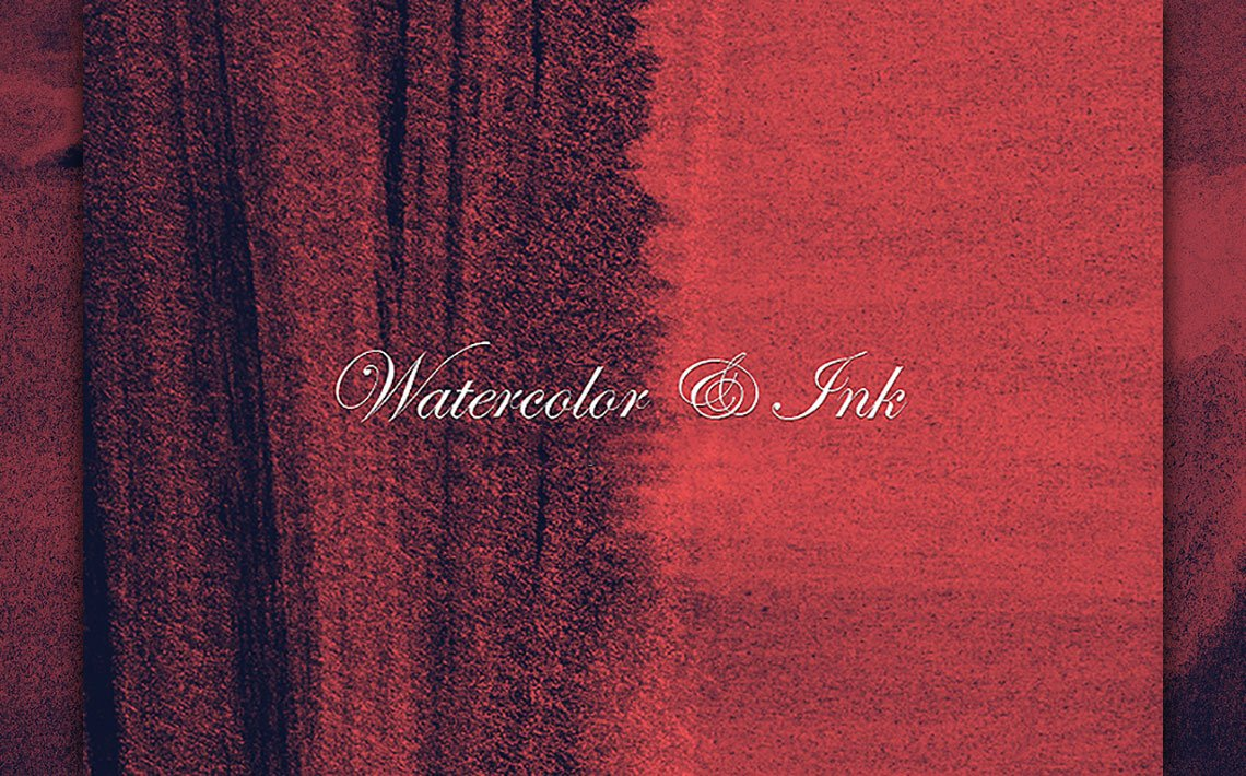 25 Watercolour and Ink Photoshop Brushes