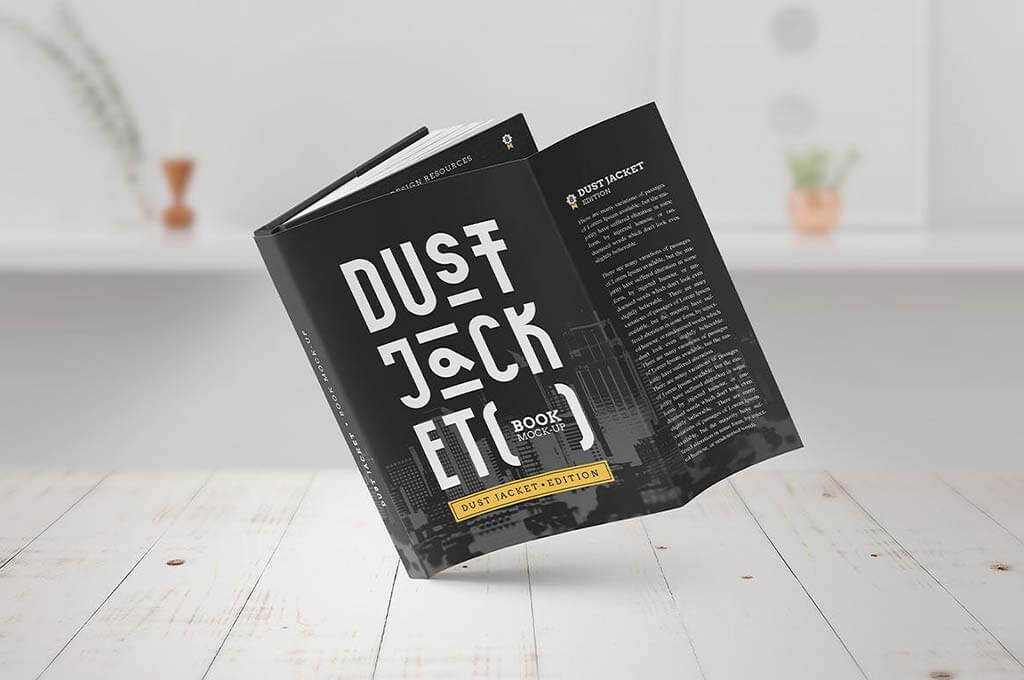 Book Mock-Up: Dust Jacket Edition