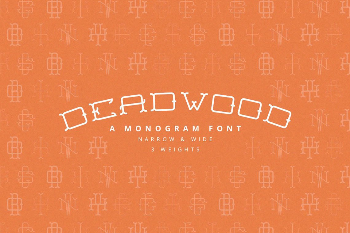 Deadwood - A Monogram Font Family