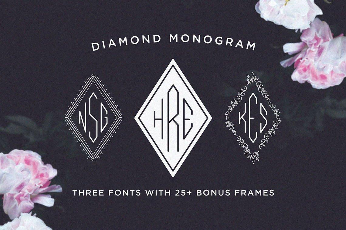 Diamond Monogram Font