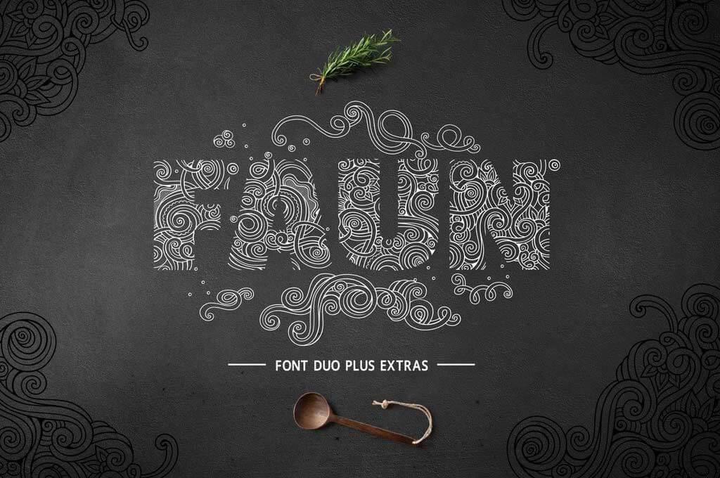Faun Monogram Font Family