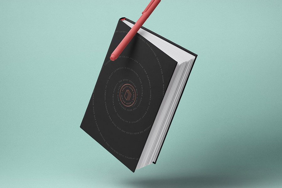 Gravity Psd Book Mockup Hardcover 2