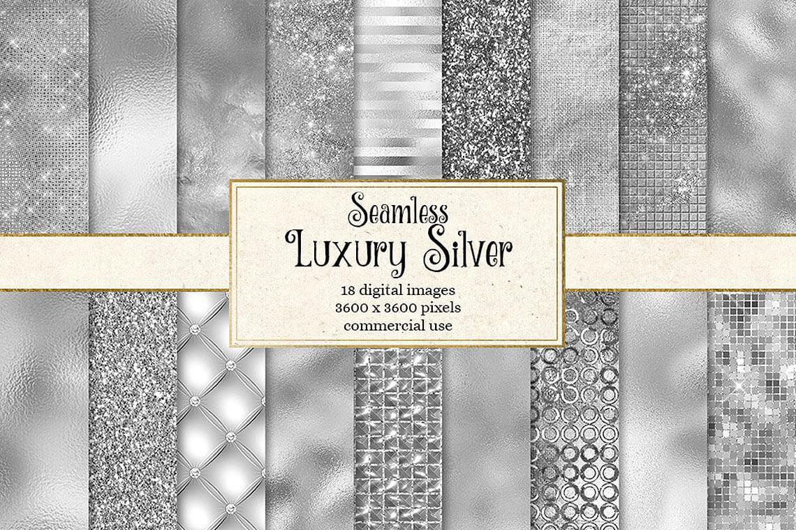 Luxury Silver Textures Digital Paper