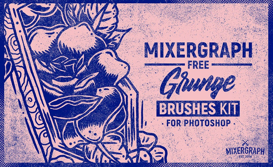 Mixergraph Free Grunge Brushes