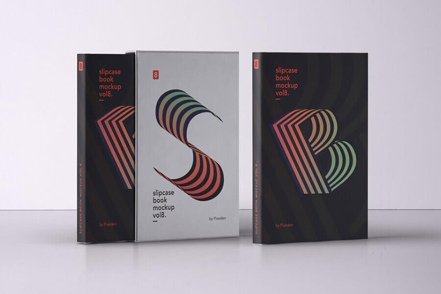 PSD Slipcase Book Mockup
