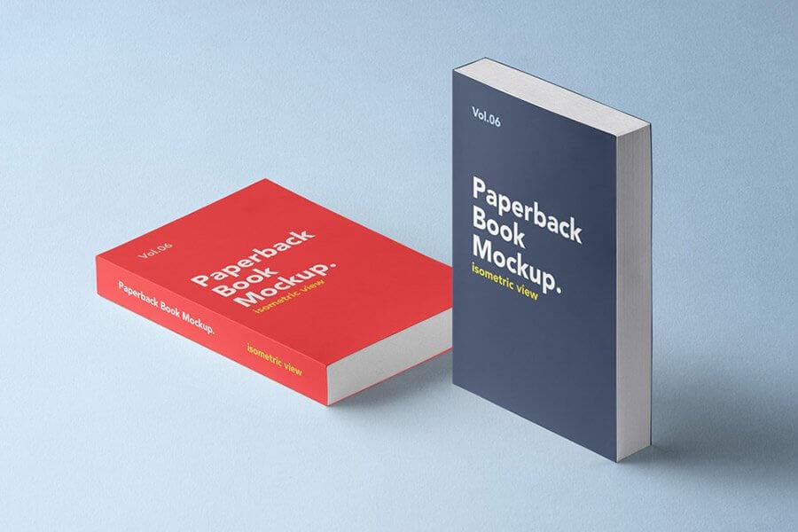 Paperback PSD Book Mockup