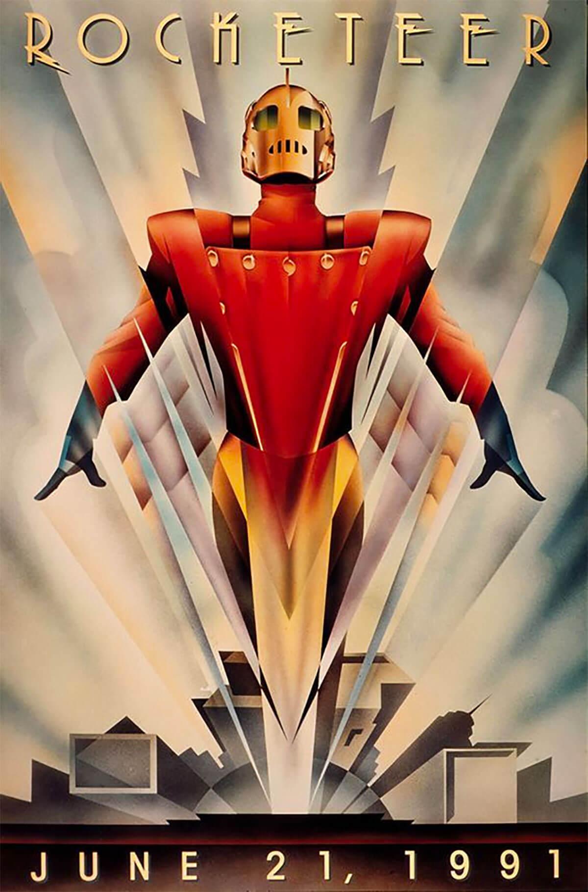 Rocketeer in Art Deco Style