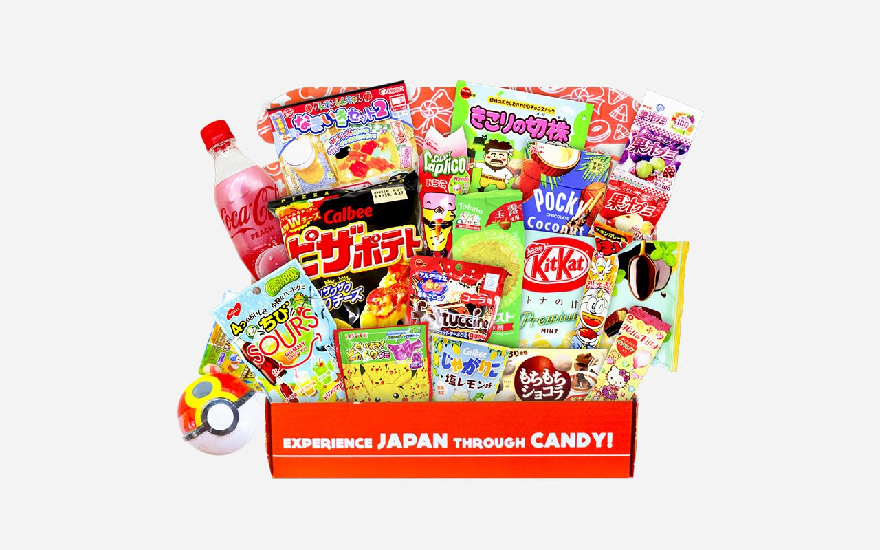 Snack and candy box from Japan Crate