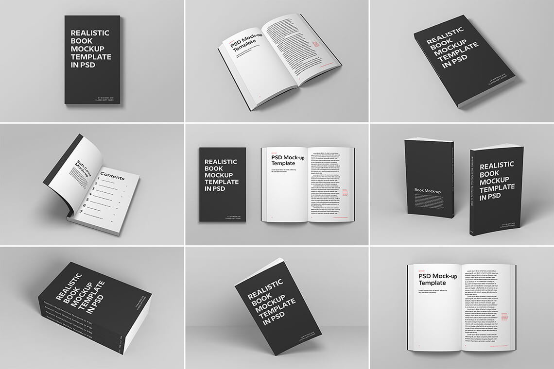 Soft Cover Book Mockups