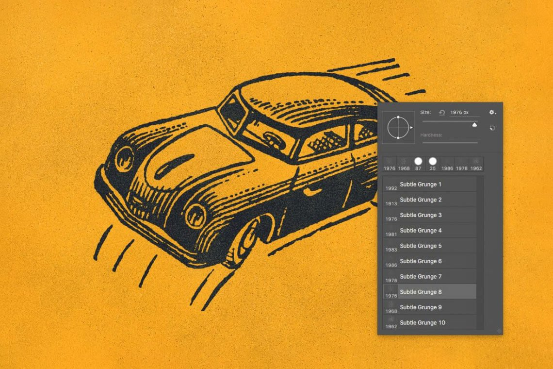 Subtle grunge brushes for Photoshop