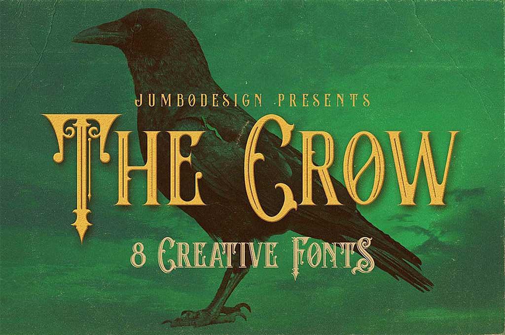 The Crow Vintage Monogram Font