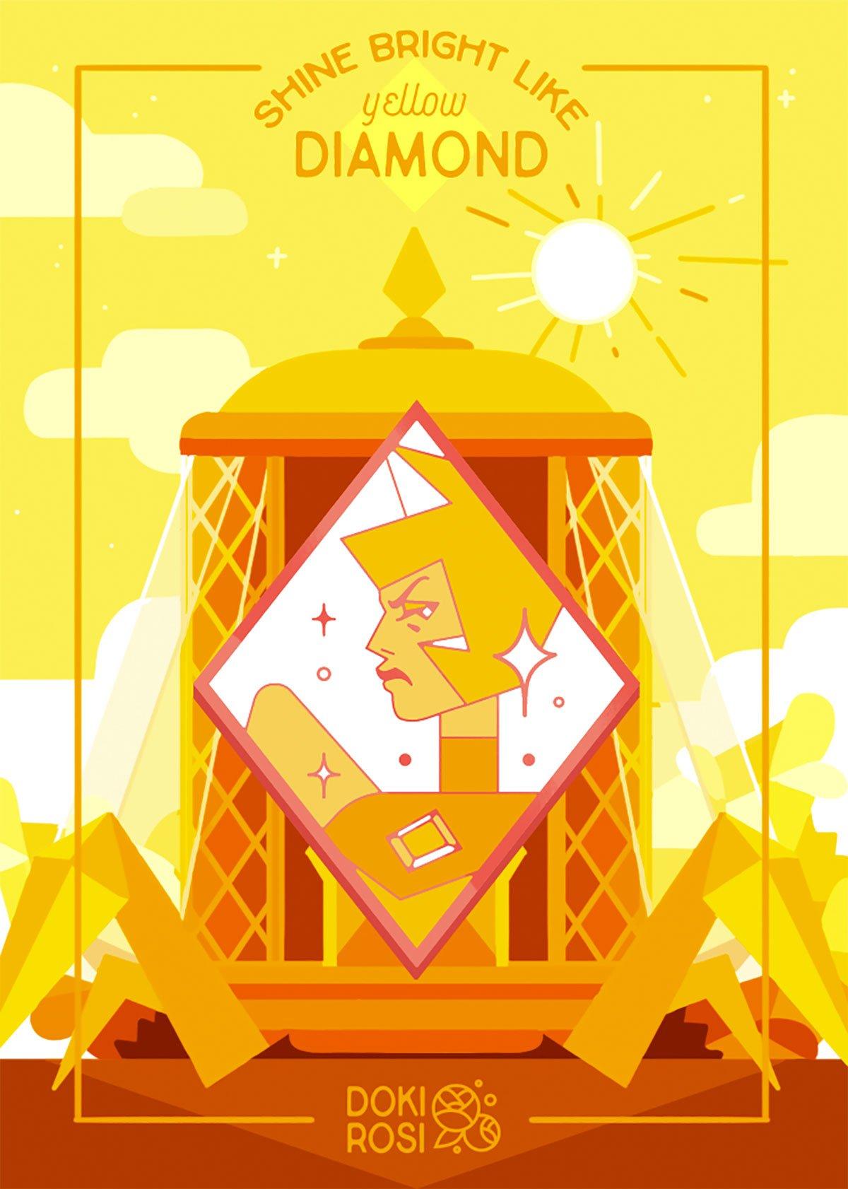 Yellow Diamond by Doki Rosi