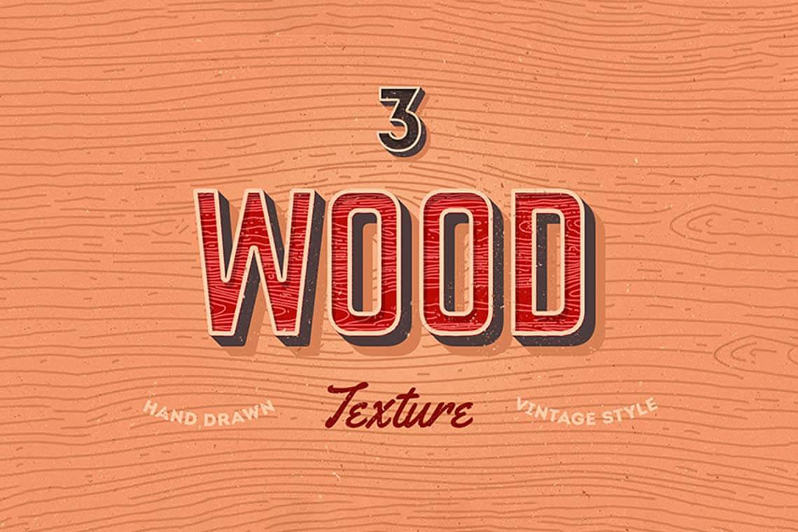 3 Vector Wood Textures