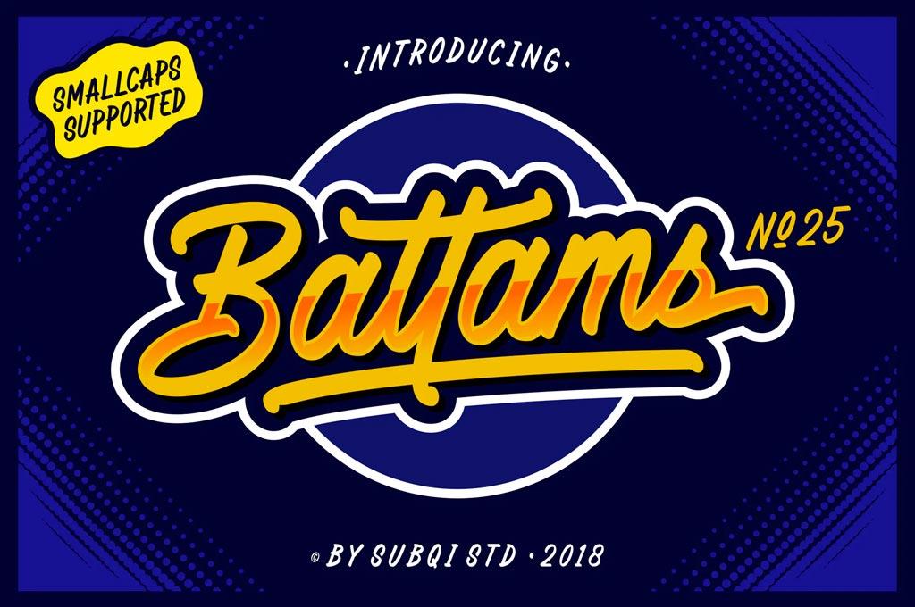 AMR Battams No 25 Pro Font