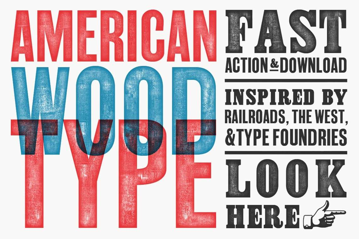 American Wood Font