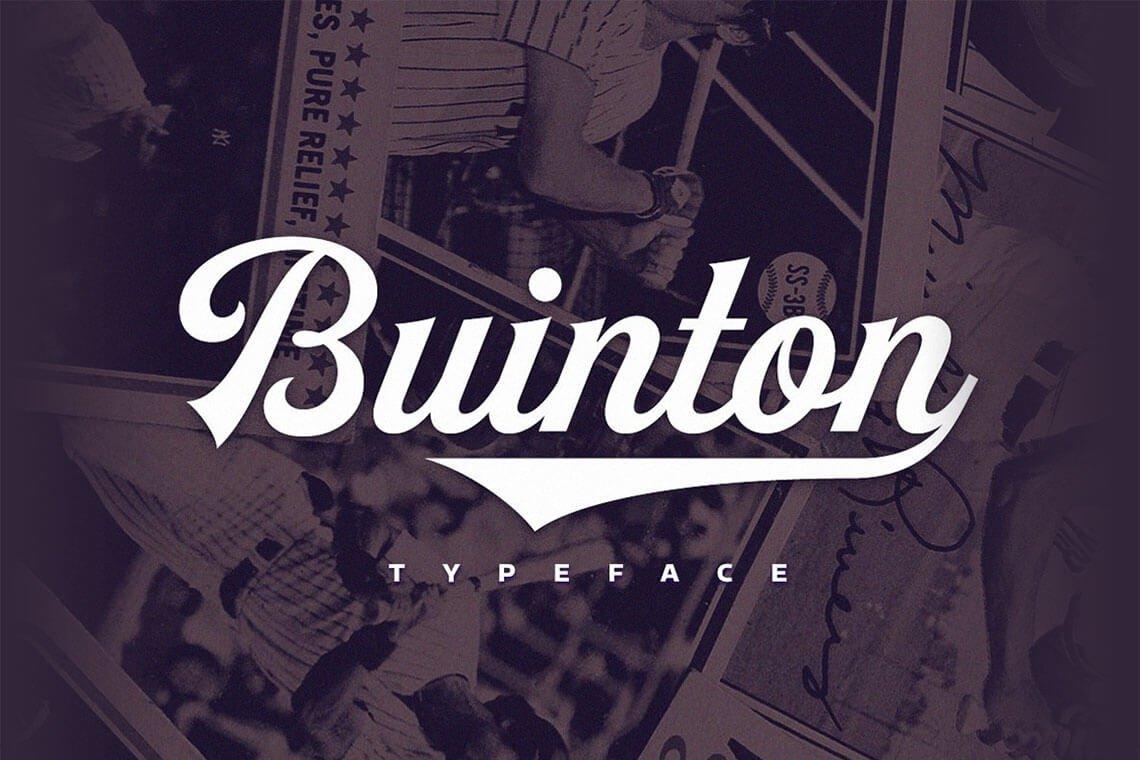 Buinton Script Typeface