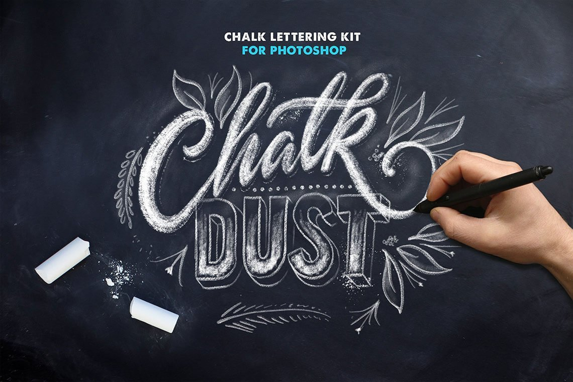 Chalk Dust Photoshop Brushes