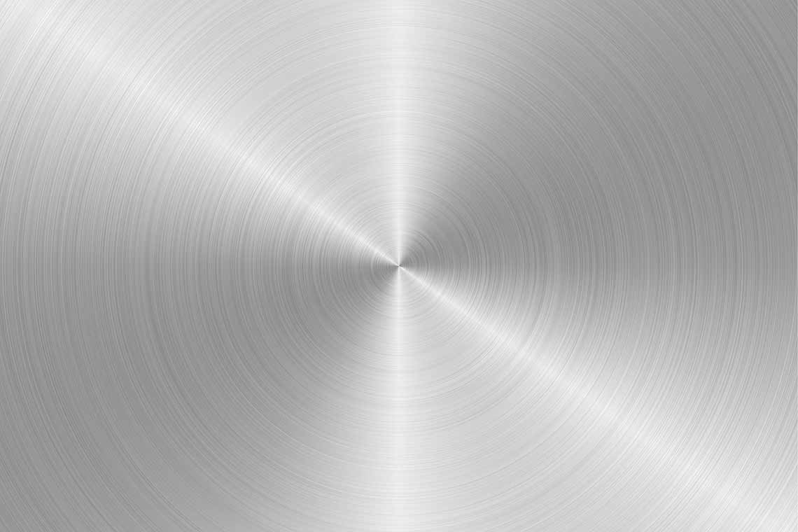 Circular Silver Metal Texture