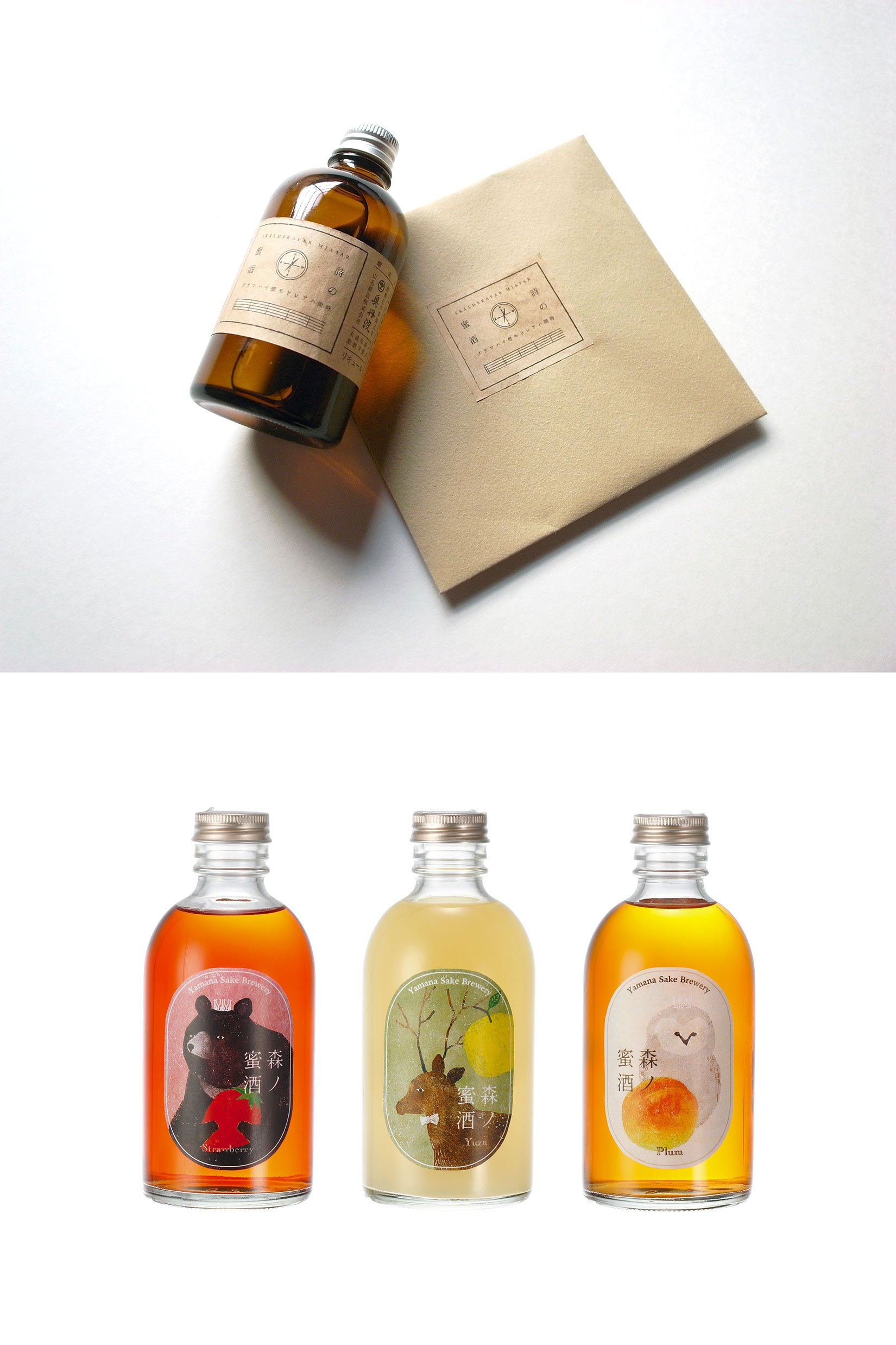 Label design for liquor by Akira Kusaka