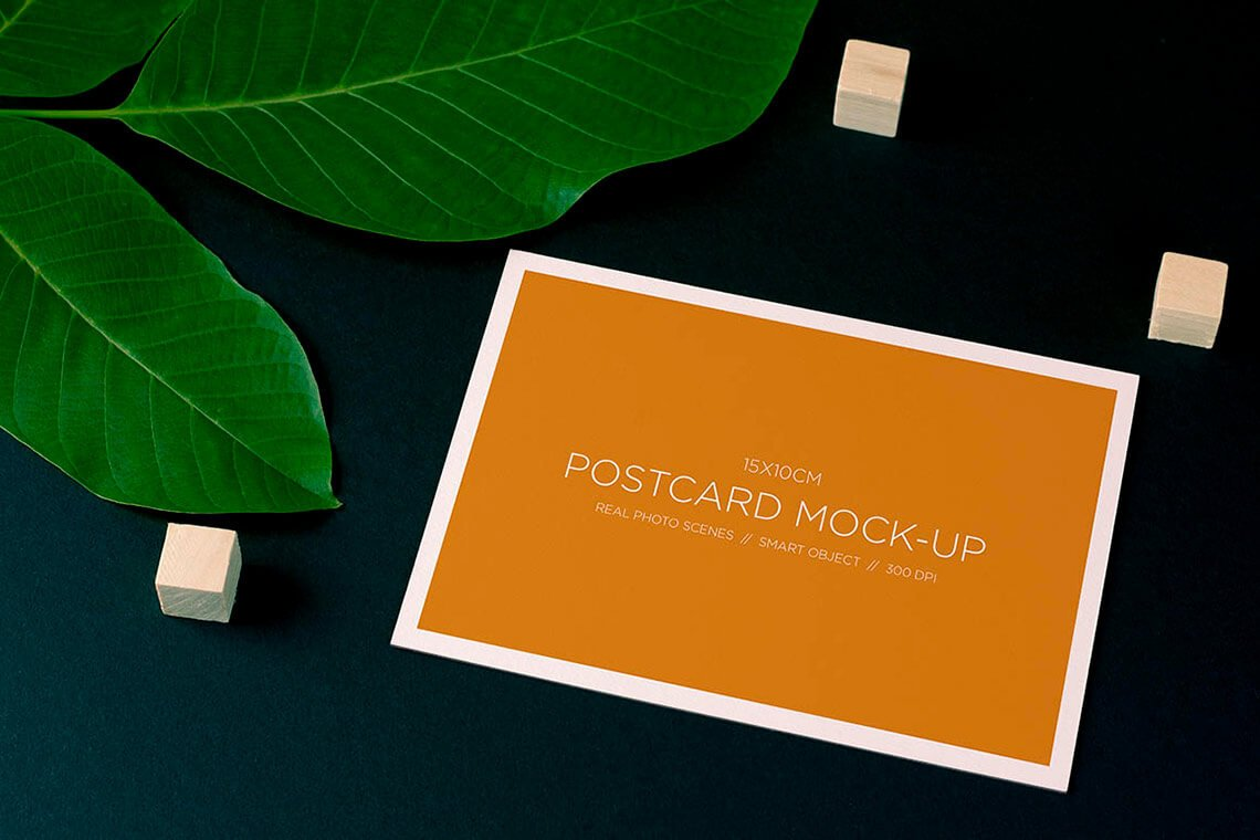 Nature Style Postcard Free Mockup