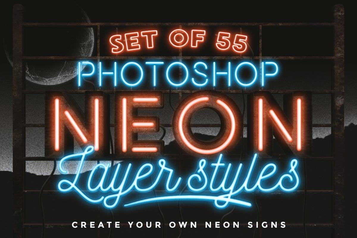 Neon Layer Styles for Photoshop by MiksKS