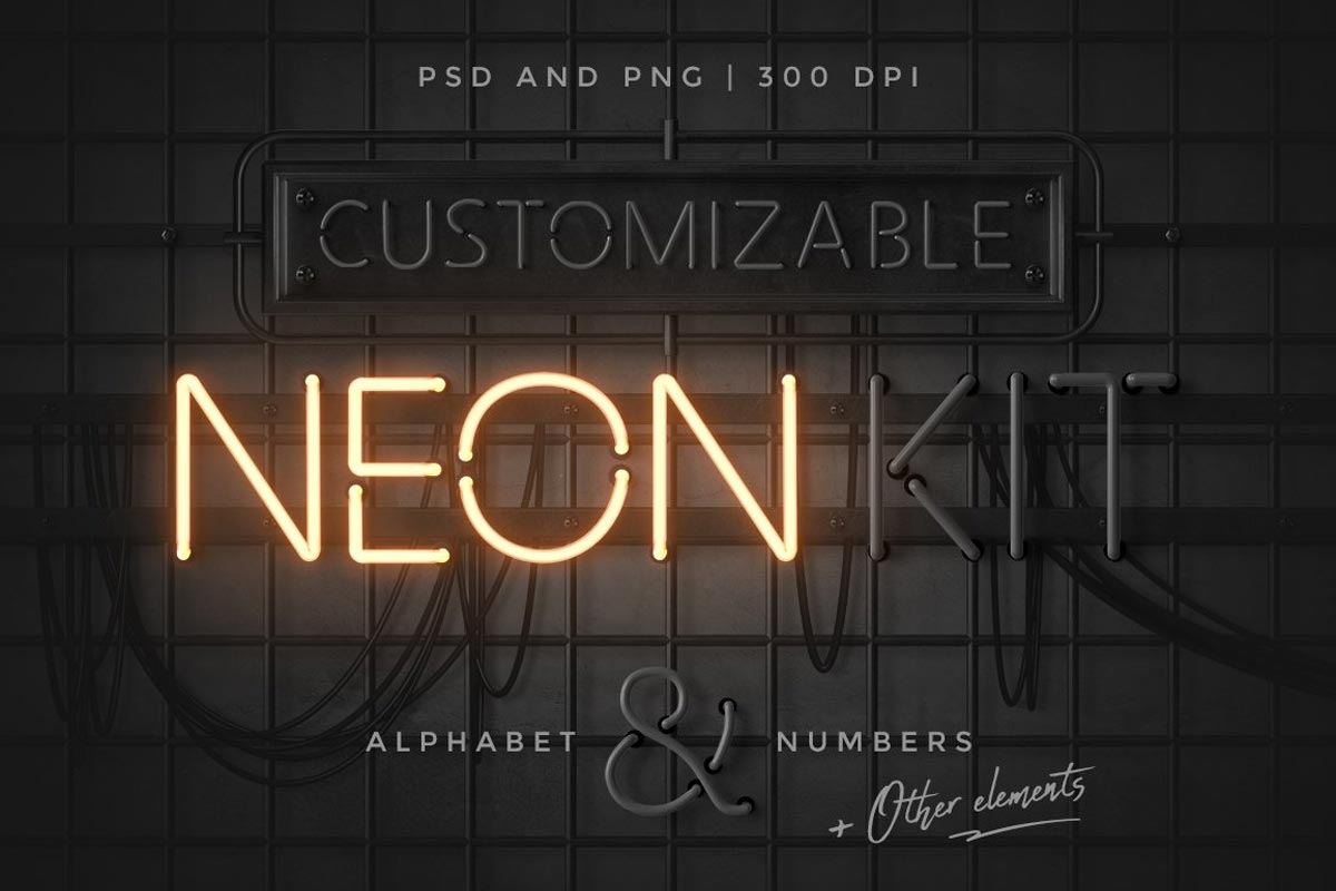 Neon alphabet kit by MiksKS