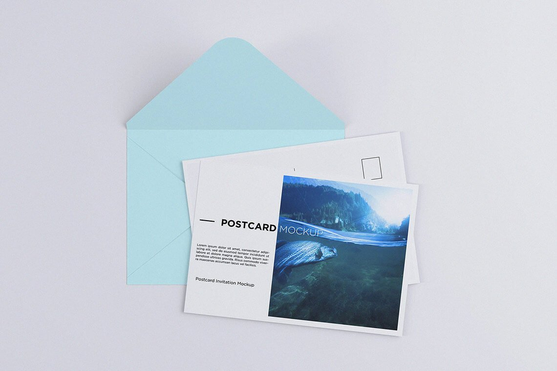 Postcard Invitation Mockup 7x5