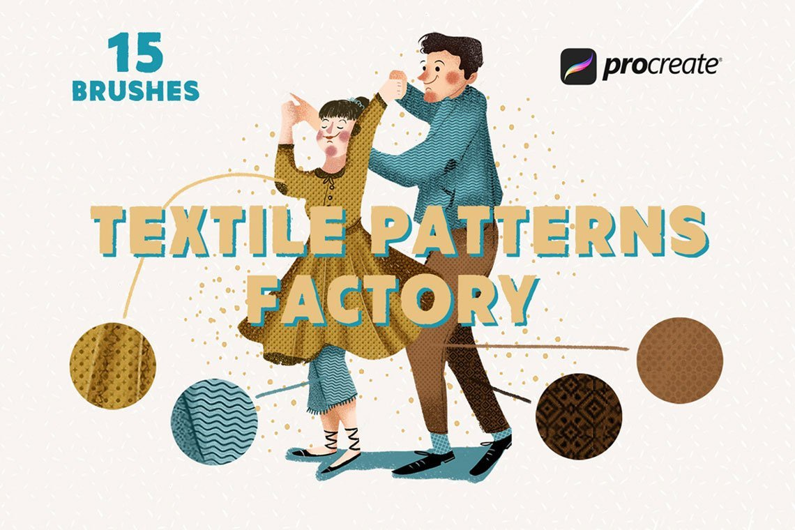 Textile Factory Procreate Brushes