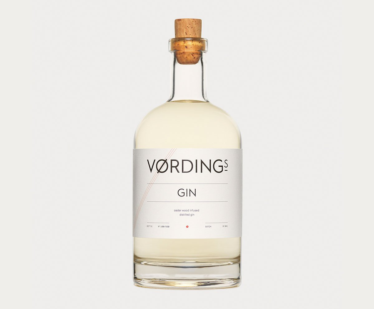 Vørding Gin Bottle Design