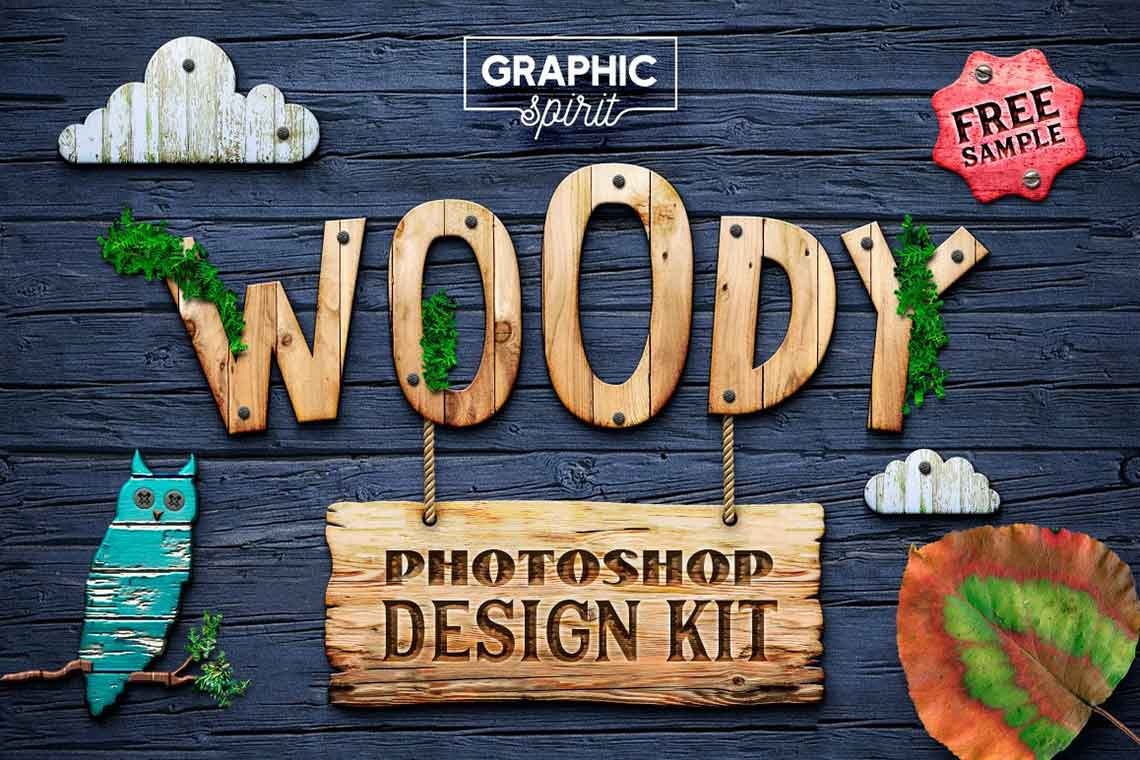 WOODY Texture Photoshop Styles