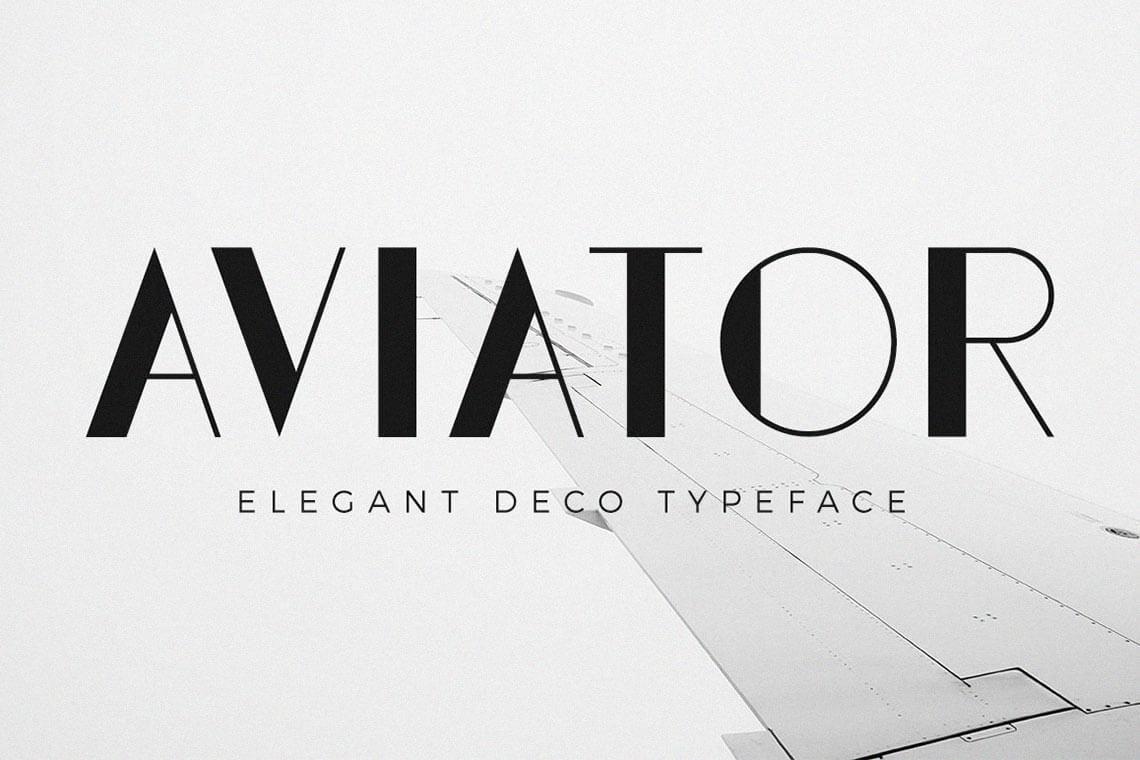 Aviator - Elegant Art Deco Font