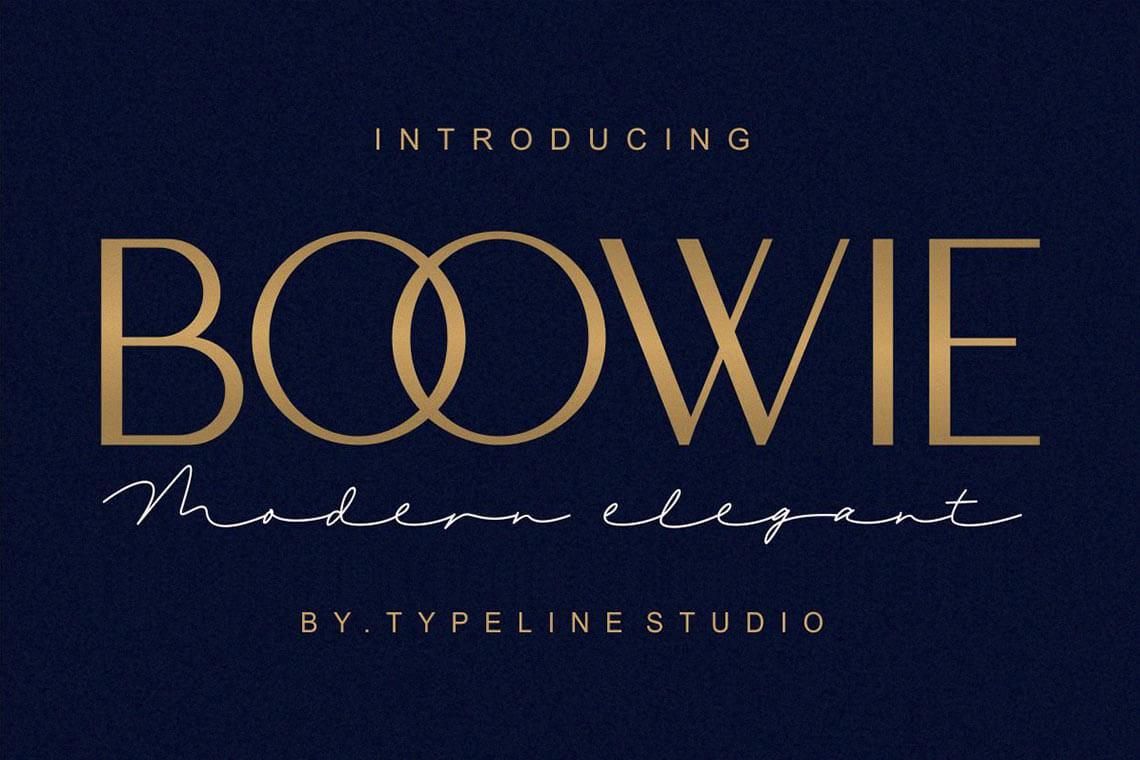 Boowie - Modern Minimalist Elegant Font