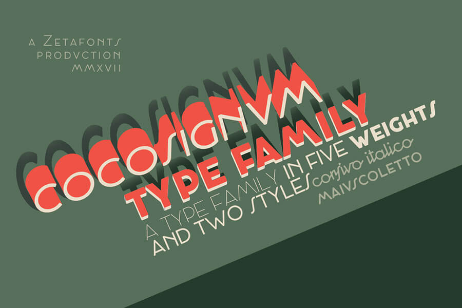 30+ Art Deco Fonts: Bold Extravagance of Lettering
