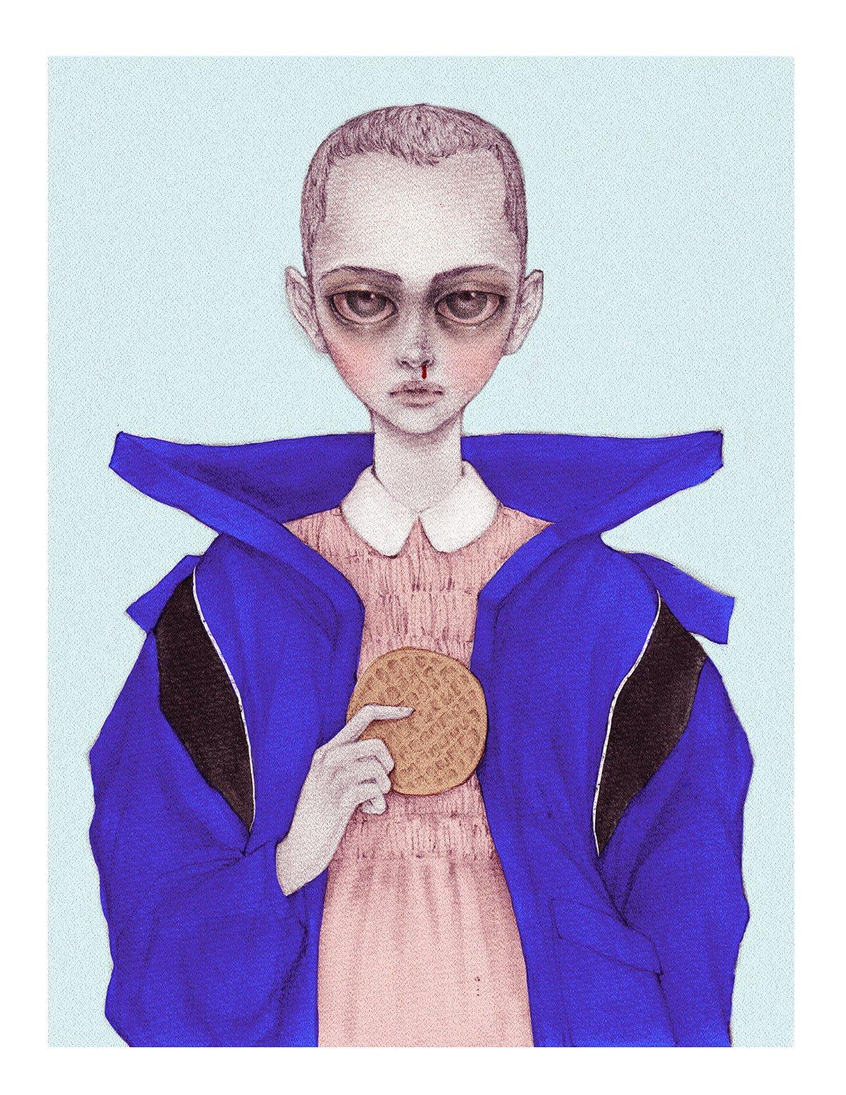 Eleven & Her Eggos by Nicolas Roa