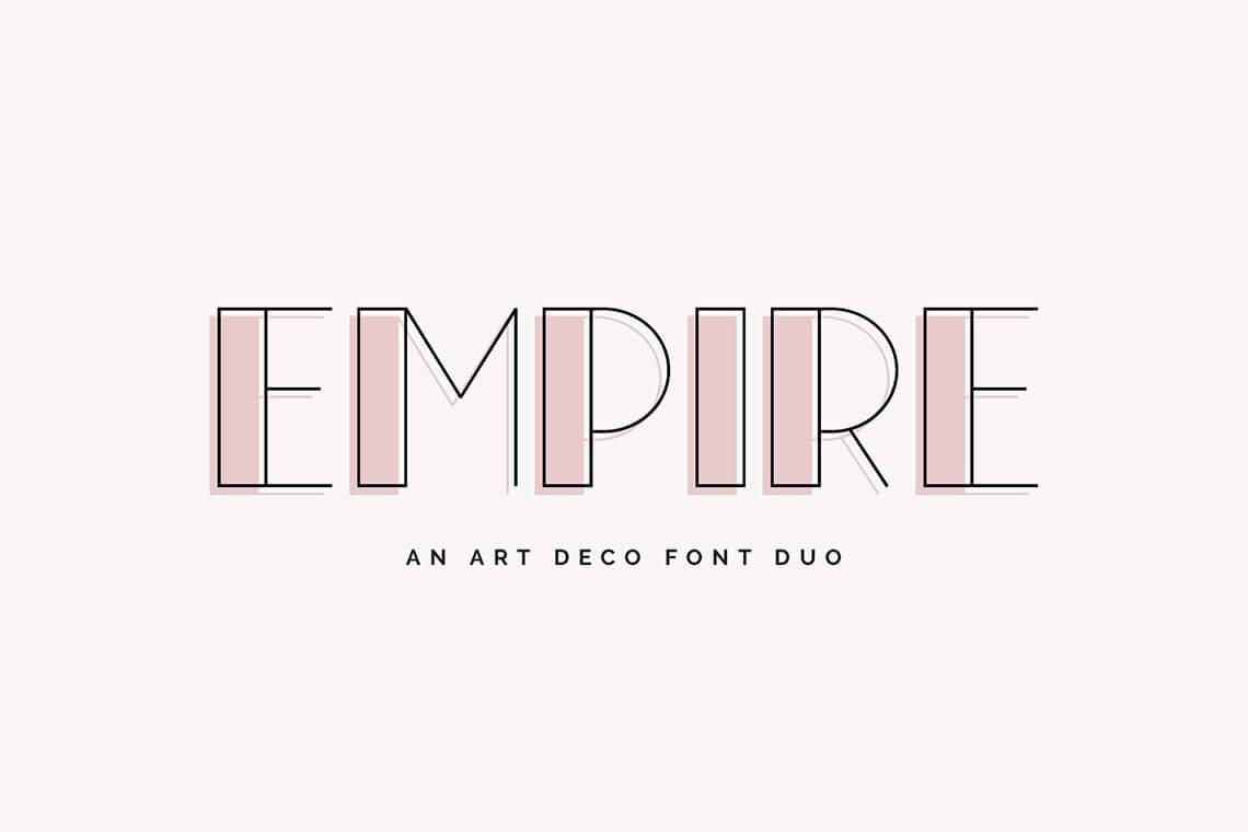 Empire - Art Deco Font Duo